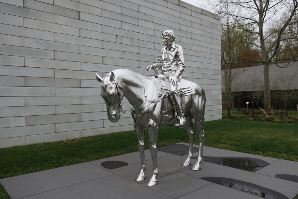 Horse and Rider Charles Ray Glenstone Potomac MD