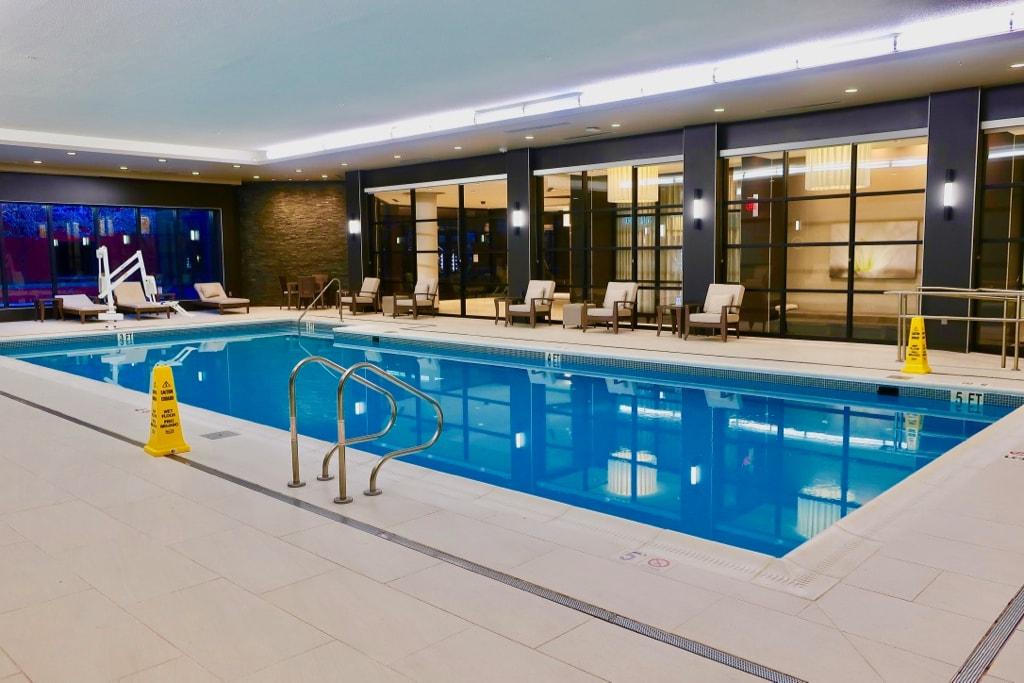 The Hotel College Park indoor pool