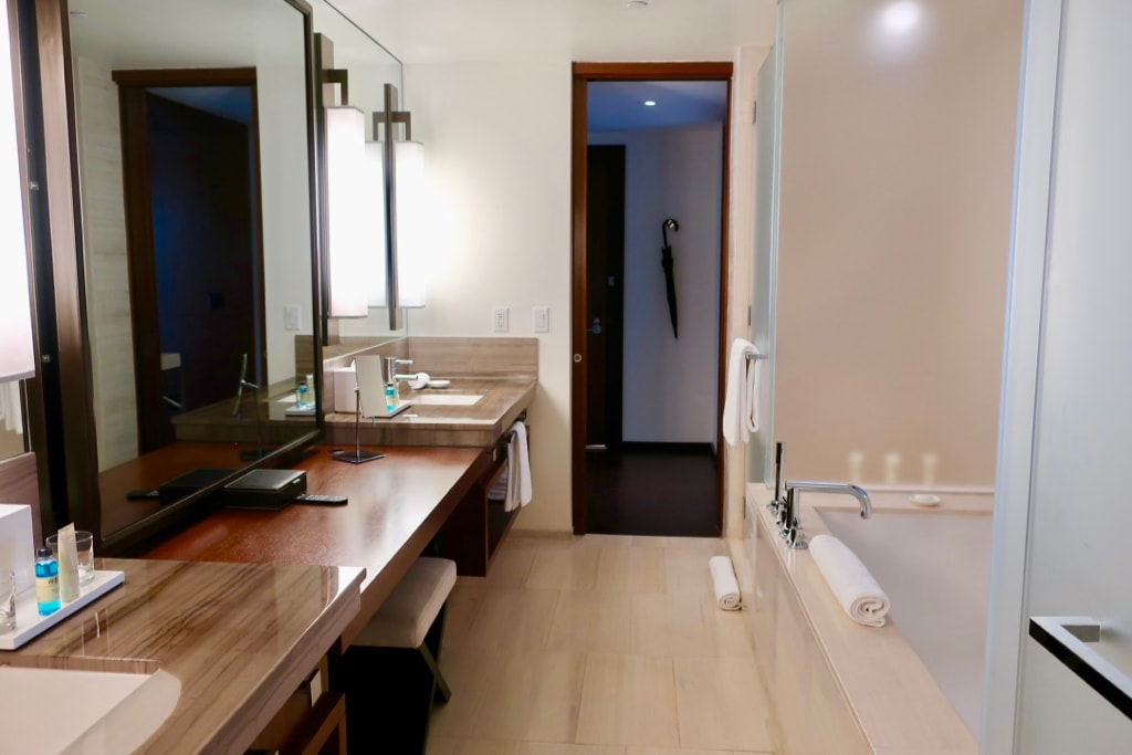 Bathroom at Langham Hotel NY