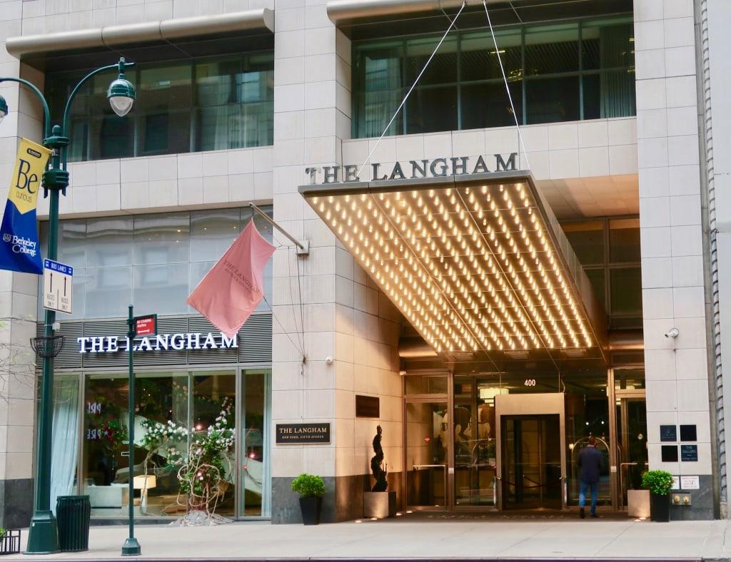 The Langham Hotel NY Entrance