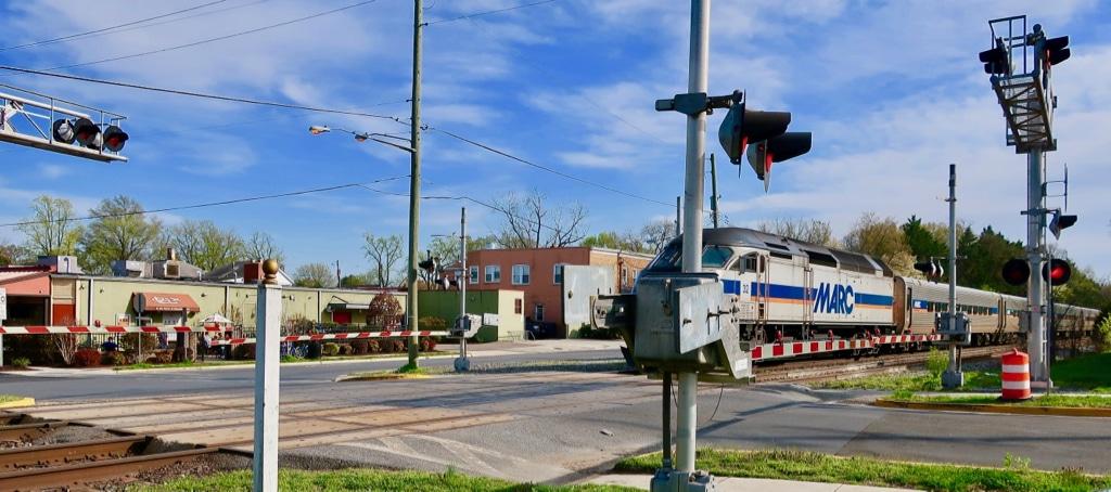 MARC Train in Riverdale Park MD
