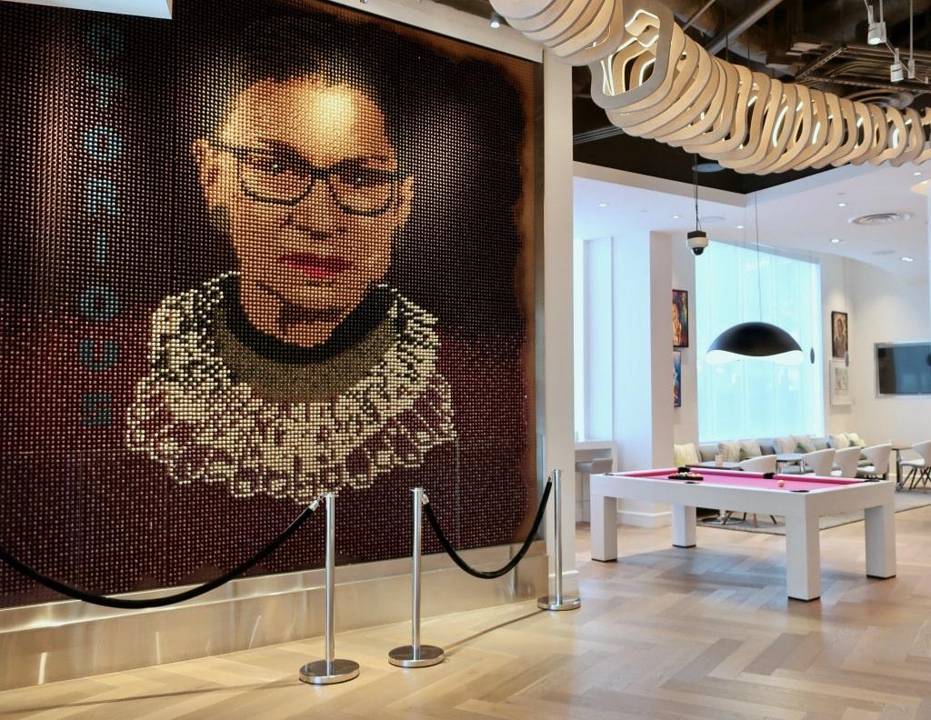 Ruth-Bader-Ginsburg-Tampon-Mural-Hotel-Zena-DC