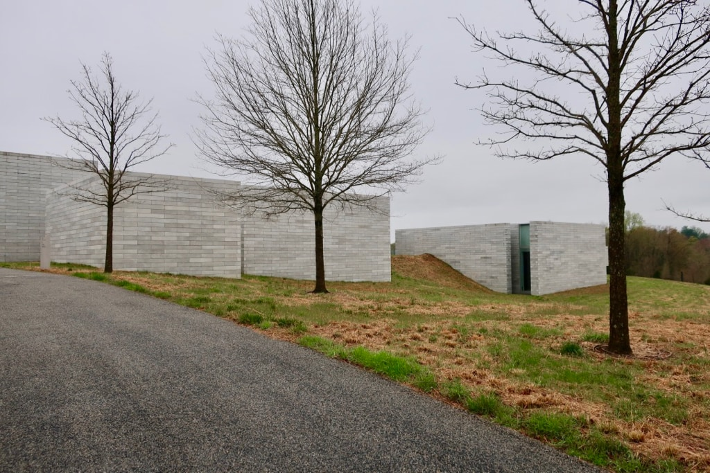 The Pavilions at Glenstone made from 26,000 concrete blocks MD