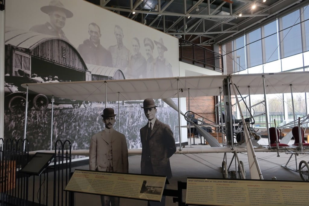 Wright Brothers exhibit College Park Aviation Museum MD