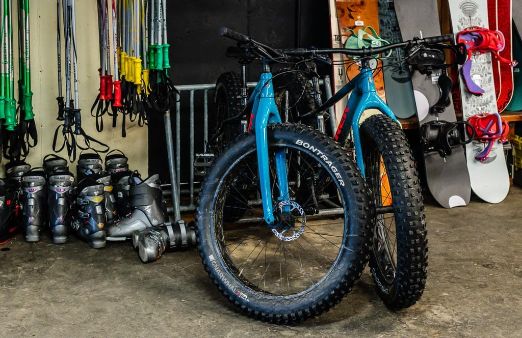 Fat Bike rentals in The Gear Shop at Jay Peak.