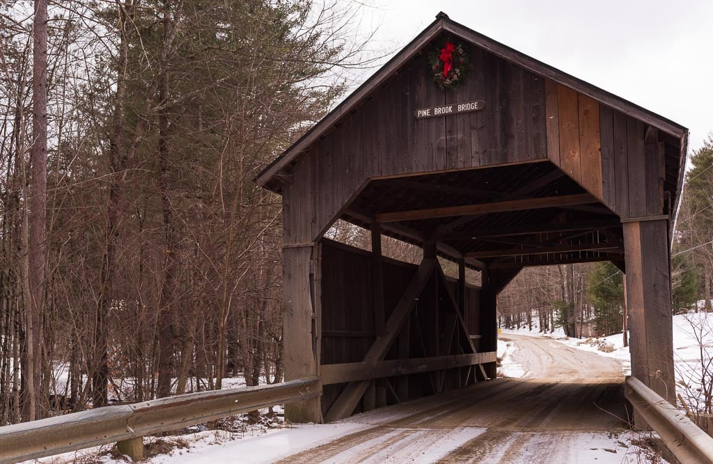 Pine Ridge Covered Bridge in Mad River Valley Vermont