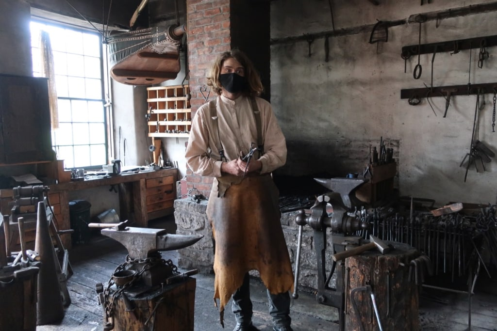 Blacksmith at Farmers Museum Cooperstown NY