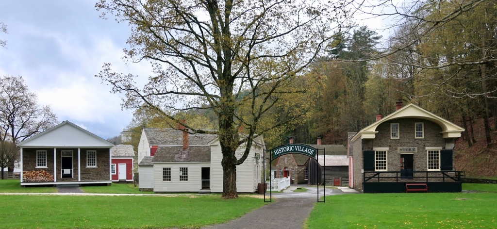 Entrance to the Historic Village at Farmers Museum Cooperstown NY