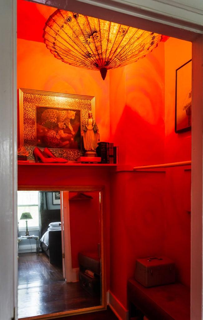 John Waters Room Dramatic closet