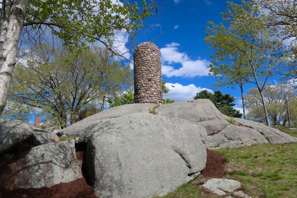 Abigail Adams Cairn Where She and son watched Battle of Bunker Hill
