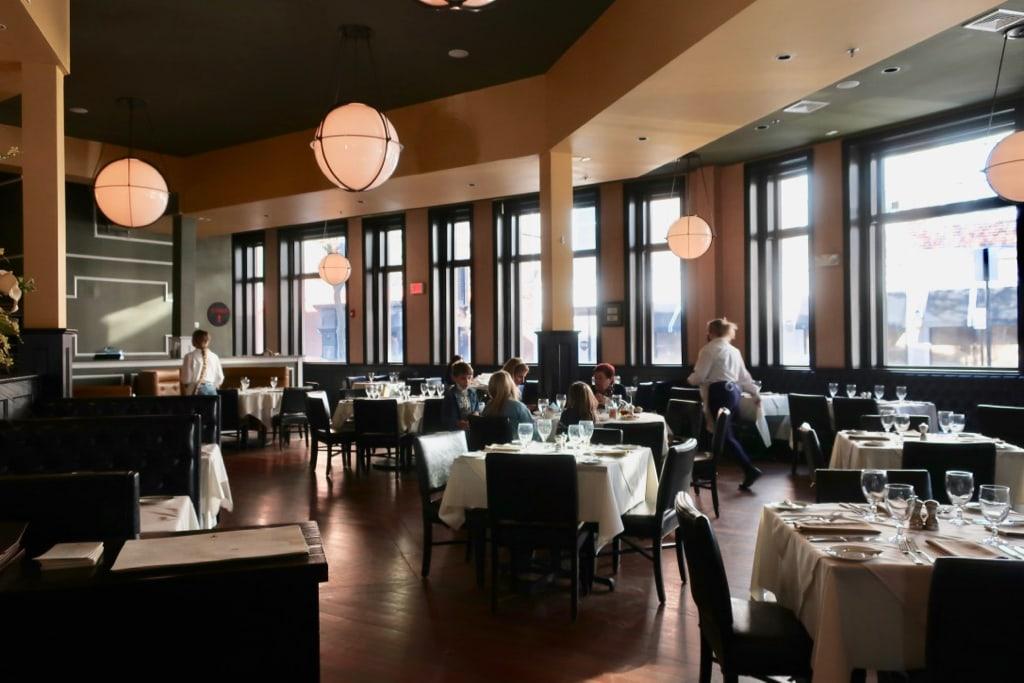 Alba Restaurant dining room Quincy MA