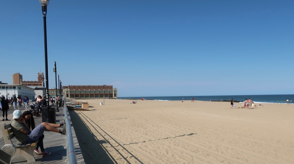 Asbury Park NJ Beach on cool day