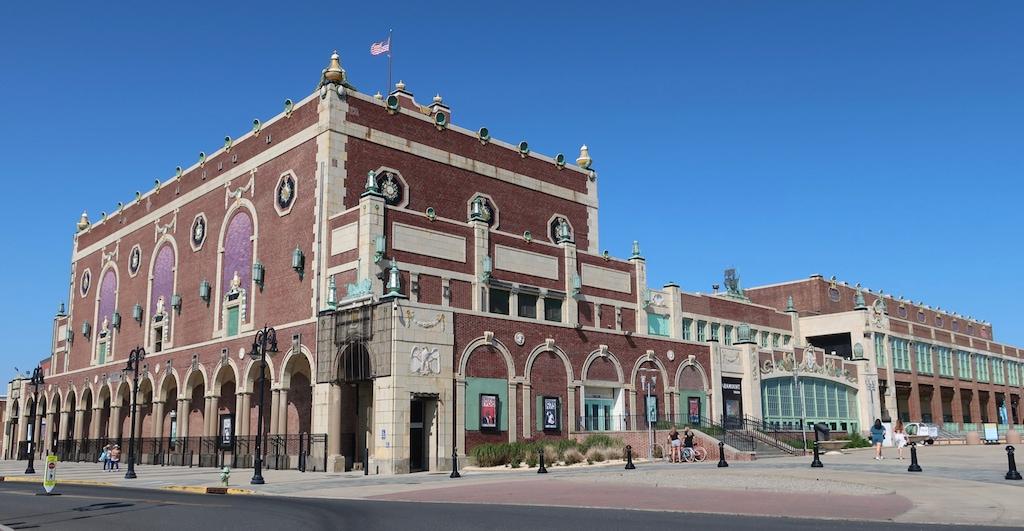 Historic Asbury Park NJ Convention Hall on the Boardwalk