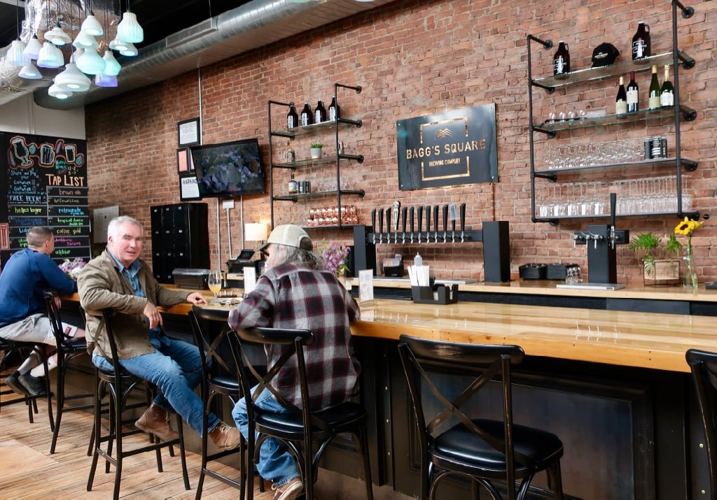 Tasting room and bar at Baggs Square Brewing Utica NY