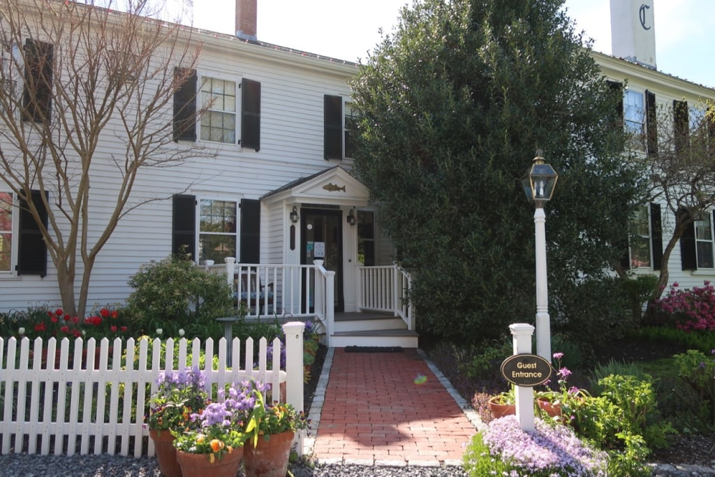 Candleberry Inn front door Brewster MA