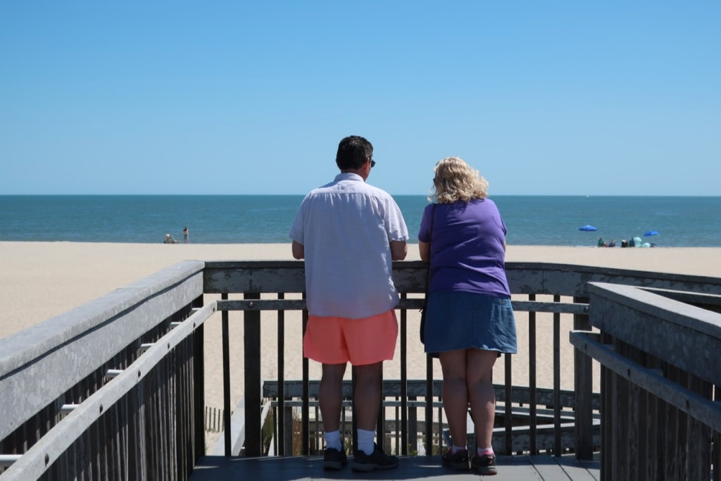 Couple together at Cape May Point SP