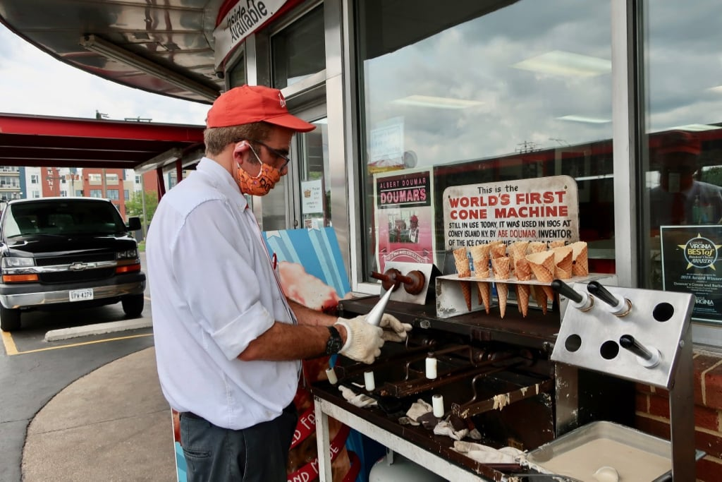 World's First Waffle Cone Still in Use Doumars Norfolk VA