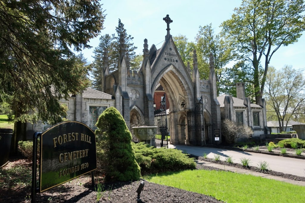 Forest Hill Cemetery adjacent to Roscoe Conklin Park Utica NY