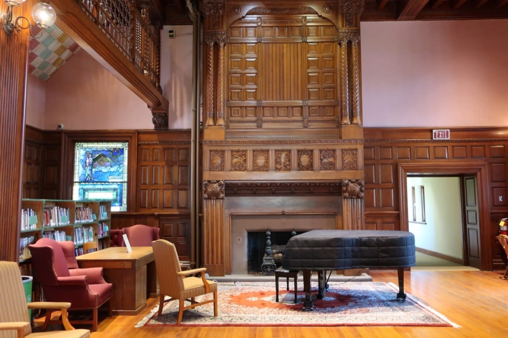 Gorgeous woodwork inside Thomas Crane Public Library Quincy MA