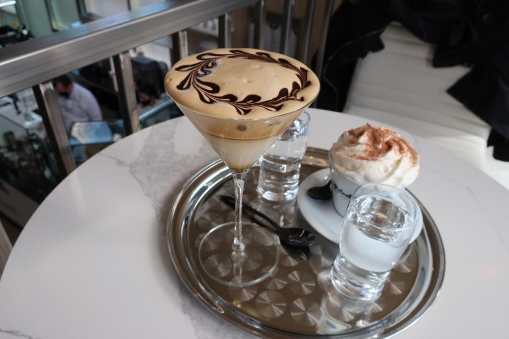 Artsy coffee drinks at Putrello Coffee Utica NY