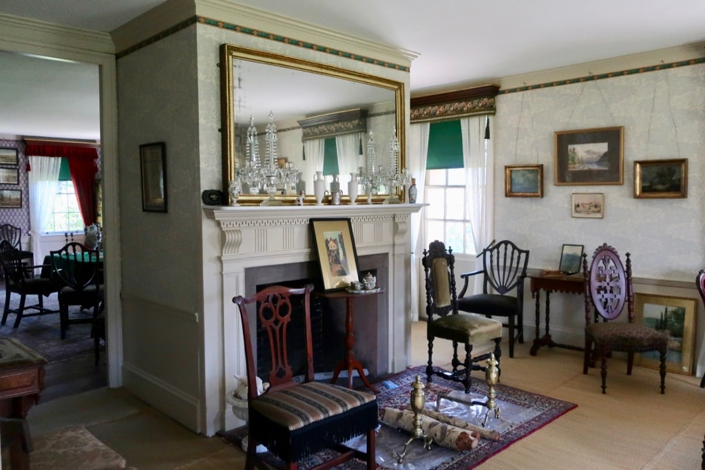 Interior living room Josiah Quincy home Quincy MA