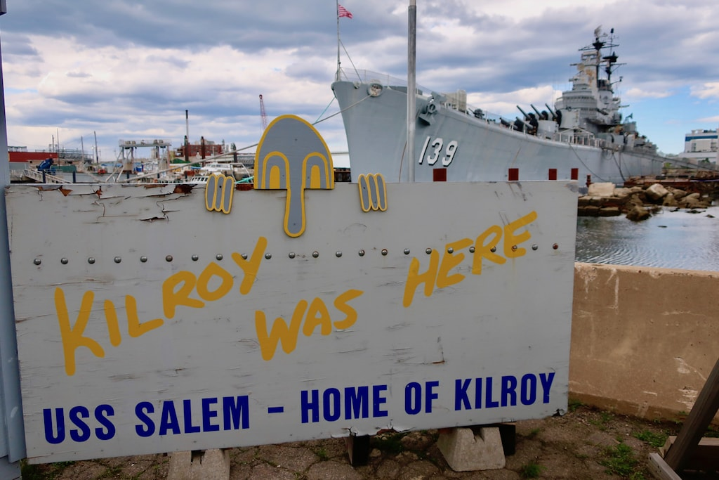 Kilroy Was Here Sign originated at Quincy Shipyard WWII