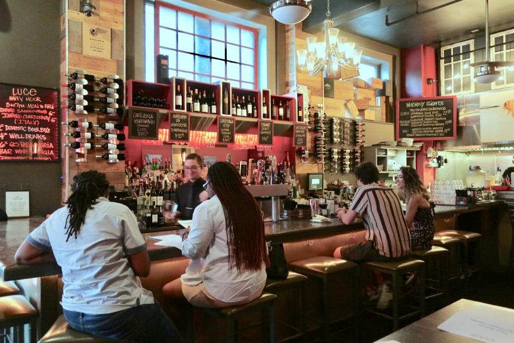 Bar scene at Luce Norfolk VA
