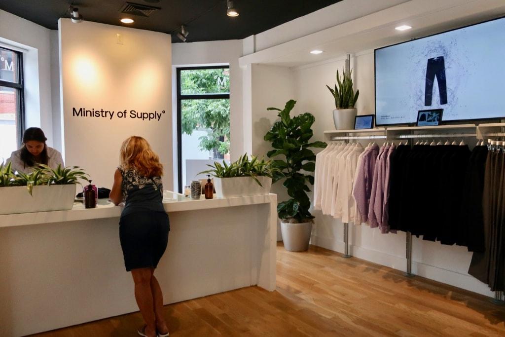 Ministry of Supply store Newbury St Boston MA
