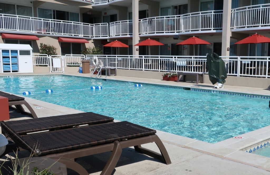 Pool at Montreal Beach Resort Cape May NJ