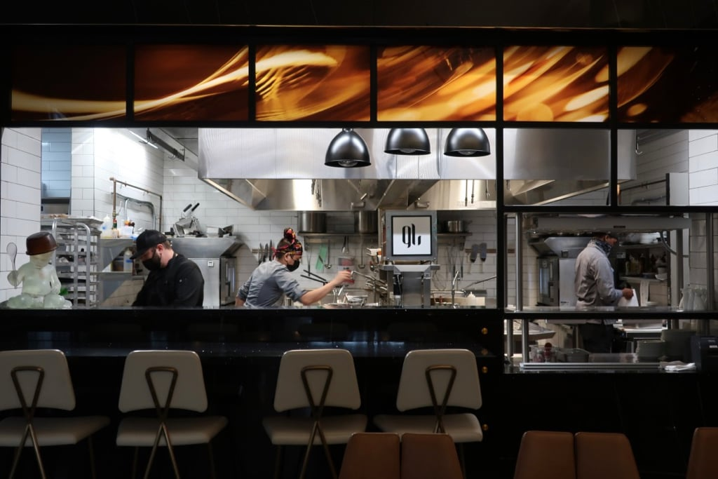 Open Kitchen Glass Light Hotel Norfolk