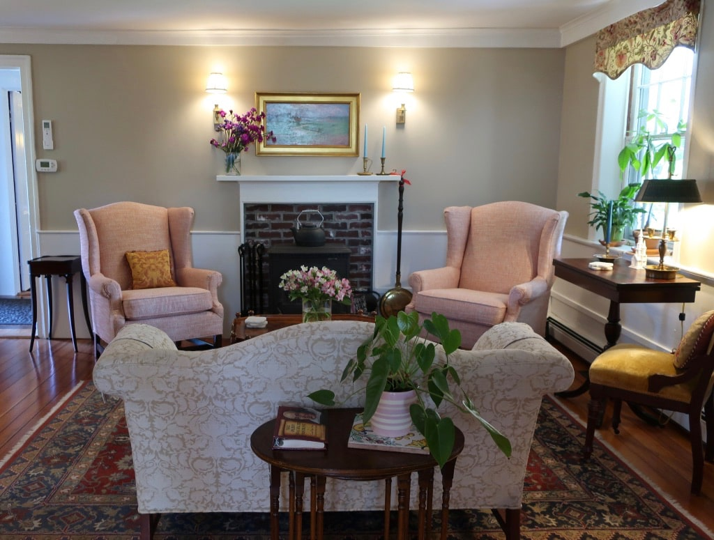 Front parlor Candleberry Inn Cape Cod MA
