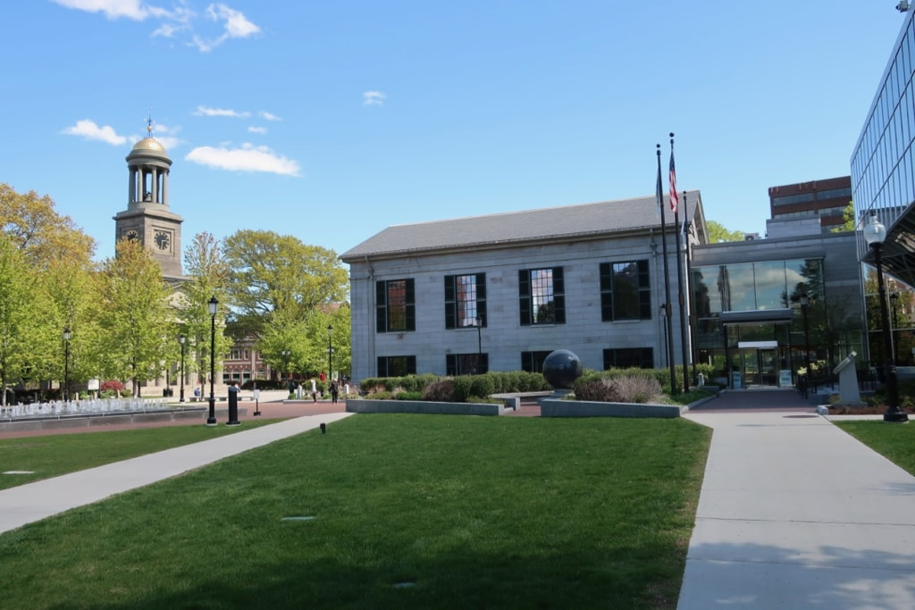 Quincy City Hall and Hancock-Adams Common Quincy MA