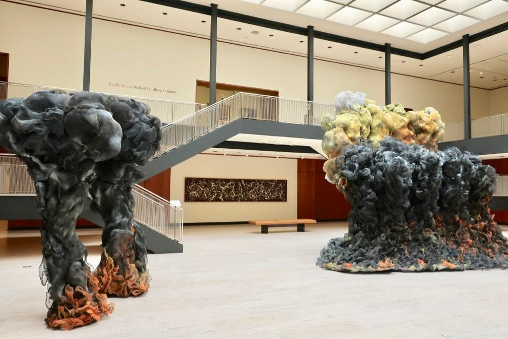 Airy bright sculpture court in boxy Philip Johnson designed Munson Williams Proctor Museum Utica NY