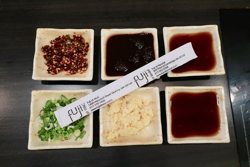 Shabu condiments Fuji Group Quincy Boston MA