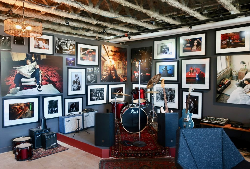 Small stage at Danny Clinch Transparent Gallery Asbury Park NJ