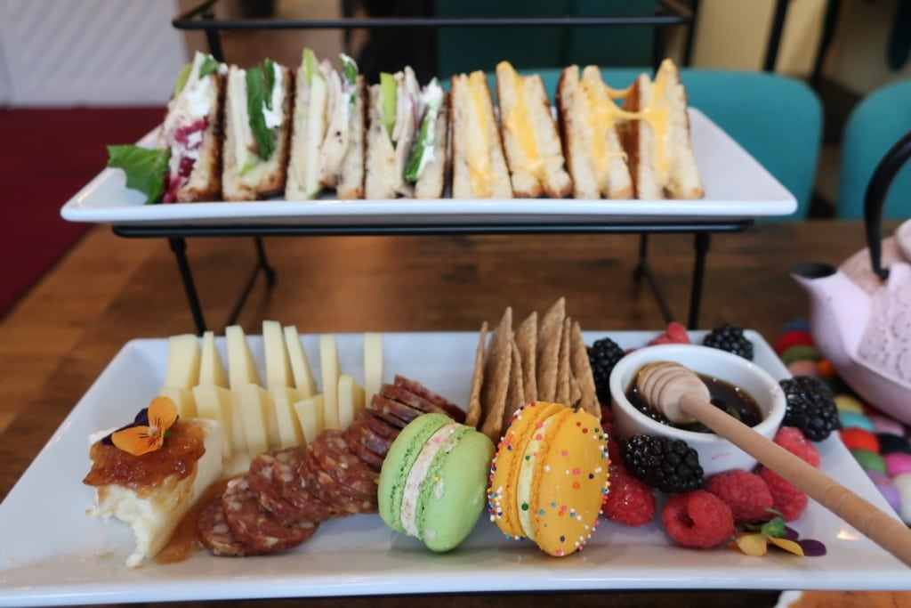 Tiers of food for High Tea at Compound on Clinton Green NY
