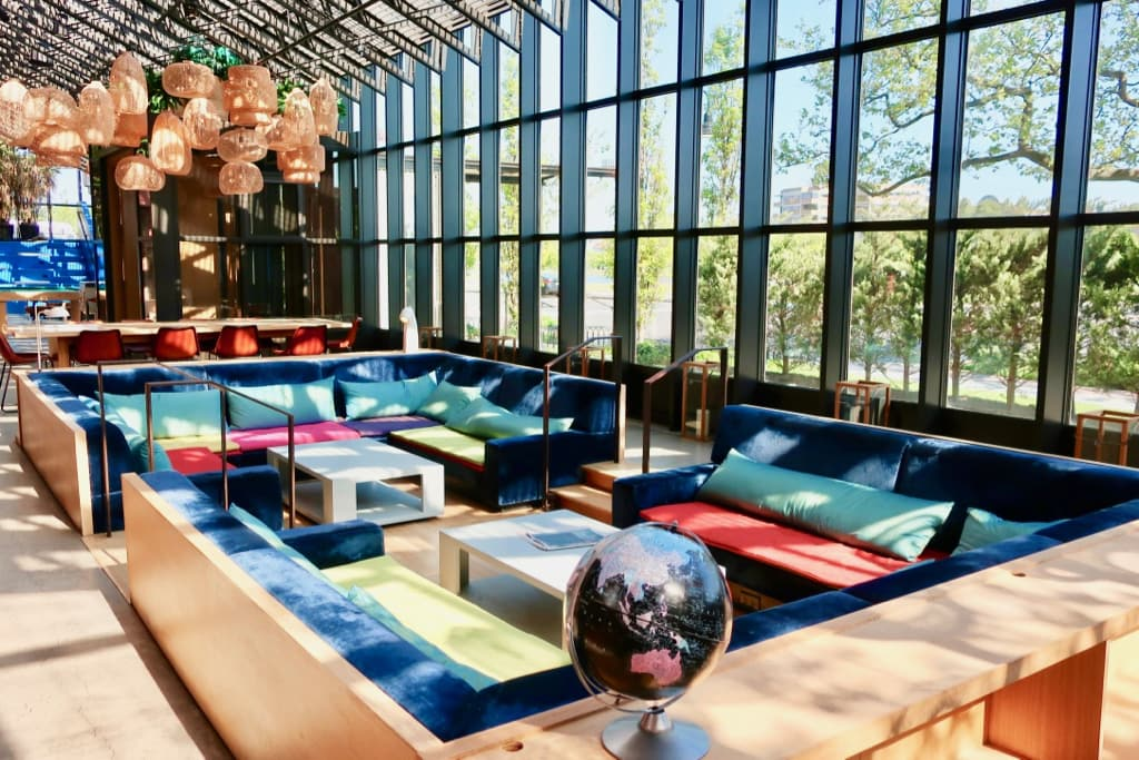 The colorful sunken lounge Asbury Hotel NJ