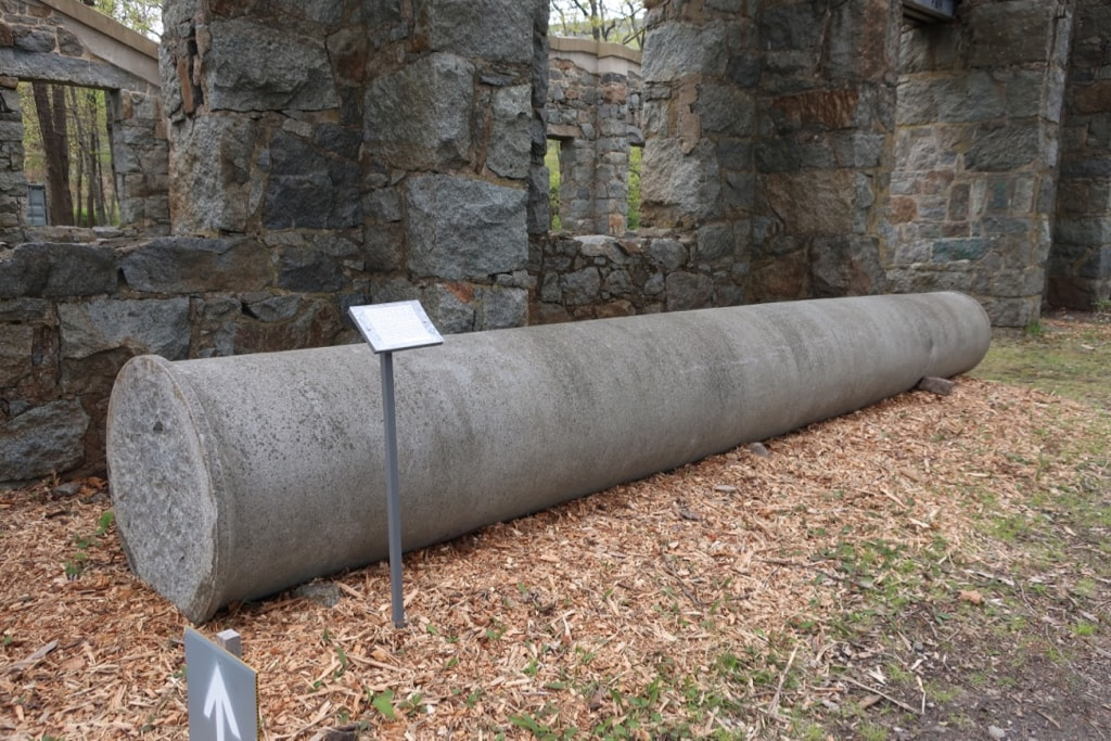 Granite column turned at Lyons Turning Mill Quincy MA