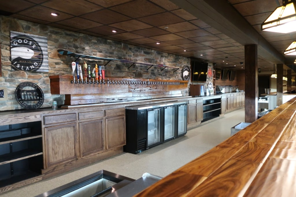 50 beers on tap at Foggy Goggle Seven Springs Mountain Ski Lodge PA