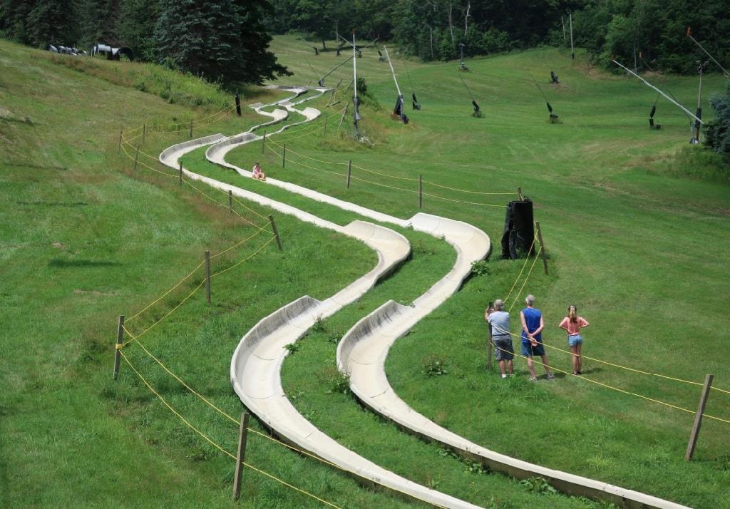 Alpine Slide at Seven Springs Mountain Resort PA