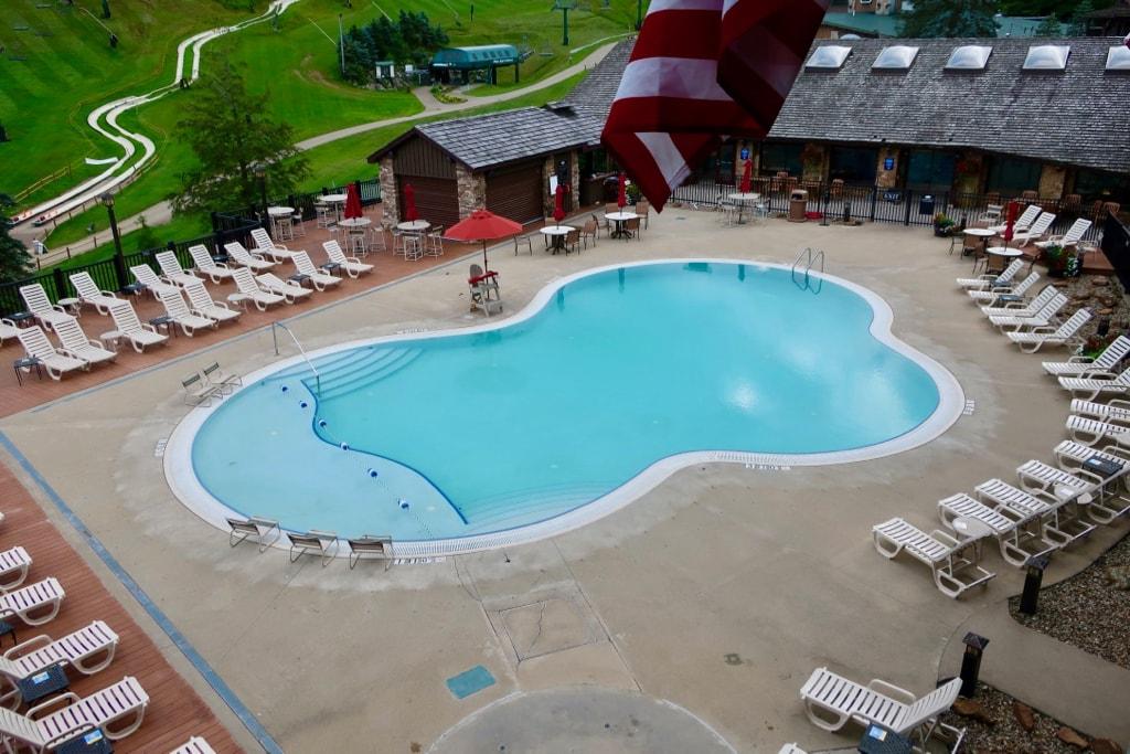 Hotel pool at SSMR PA