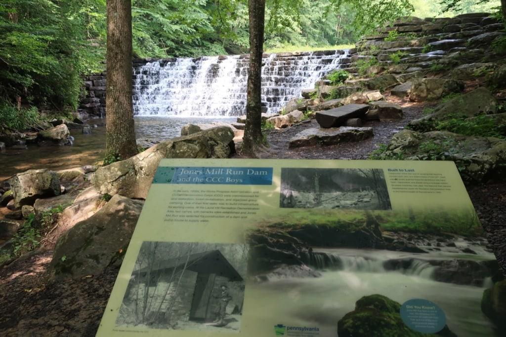 Jones Mill Run Dam on Pumphouse Trail Laurel Hill SP PA