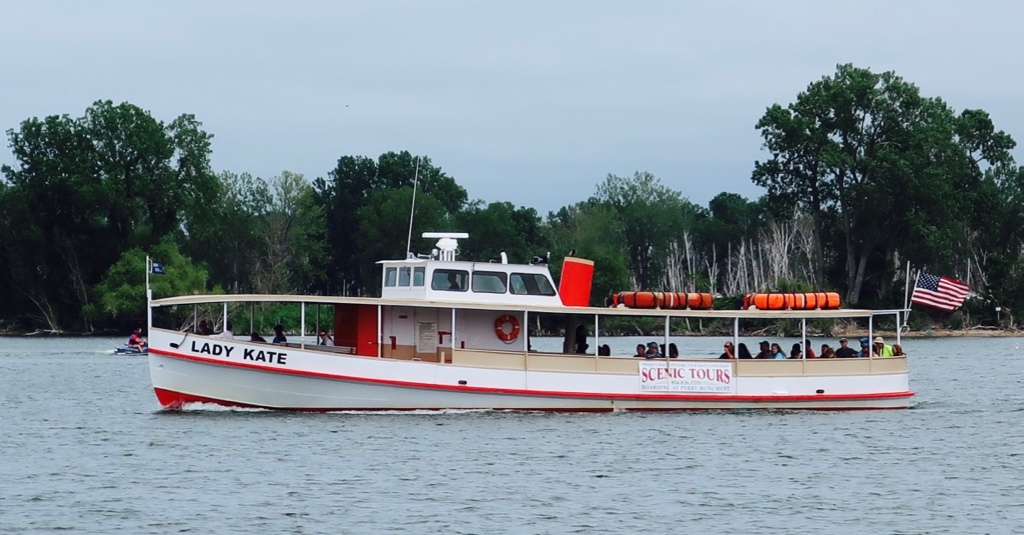 Lady Kate narrated boat cruise of Presque Isle in Erie PA