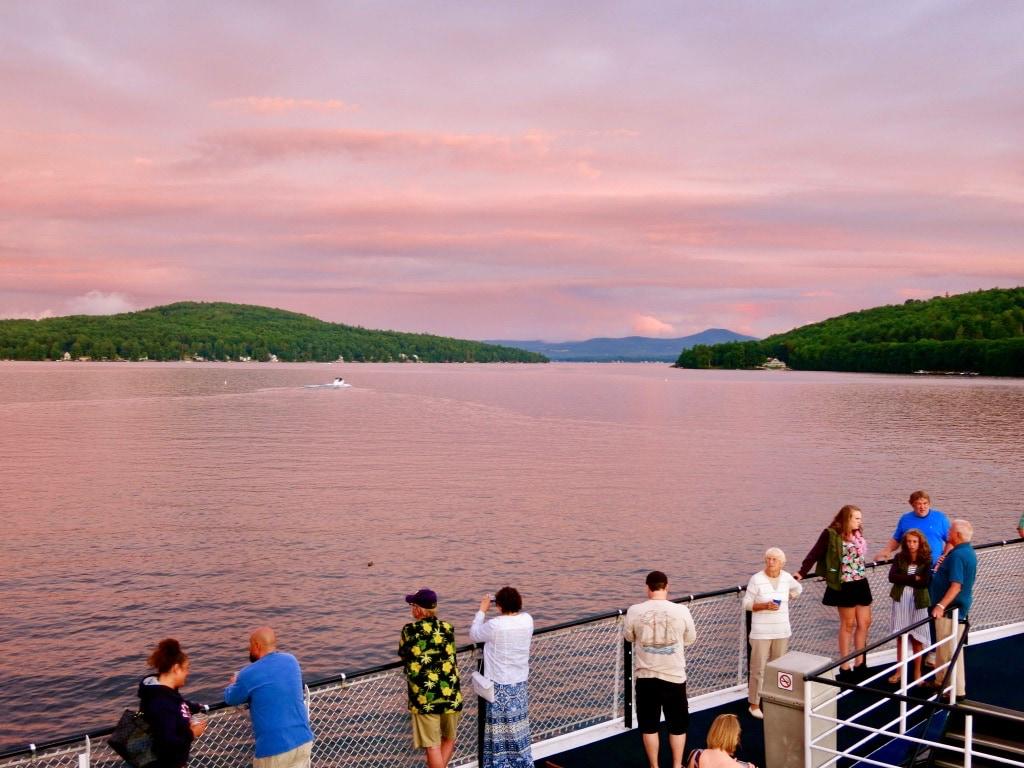 MS Mount Washington sunset cruise on Lake Winnipesaukee NH