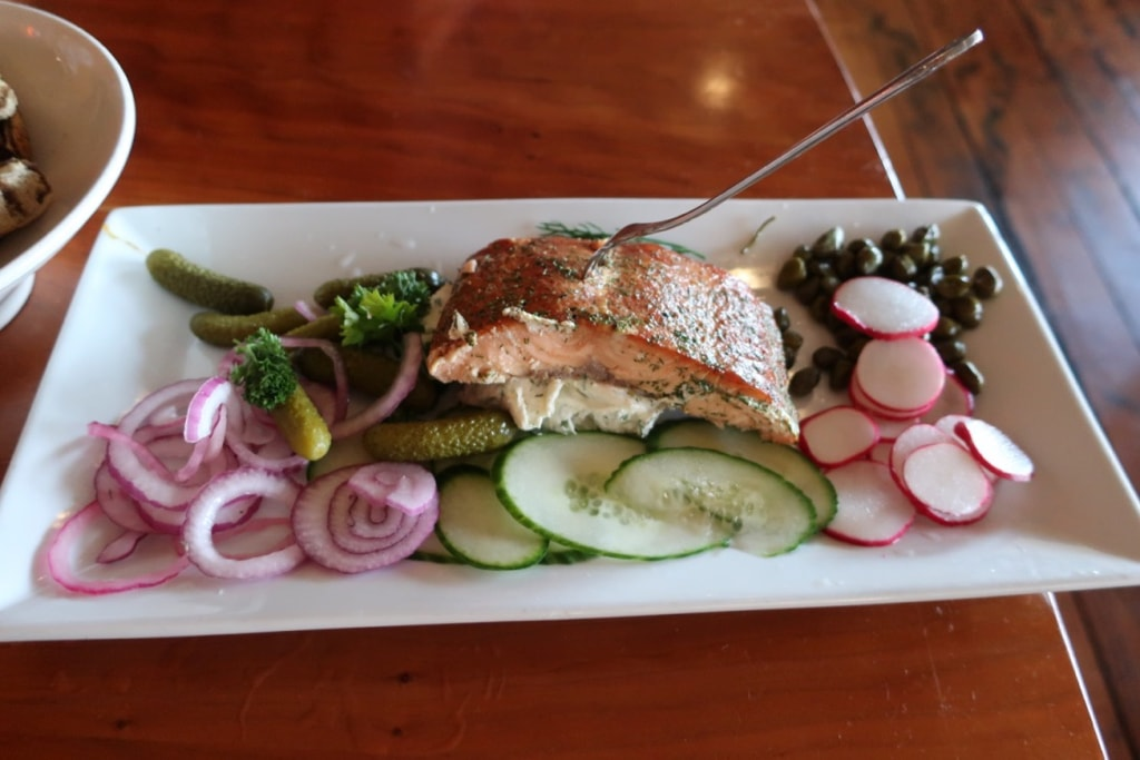 Smoked Salmon Platter at Out of the Fire Donegal PA