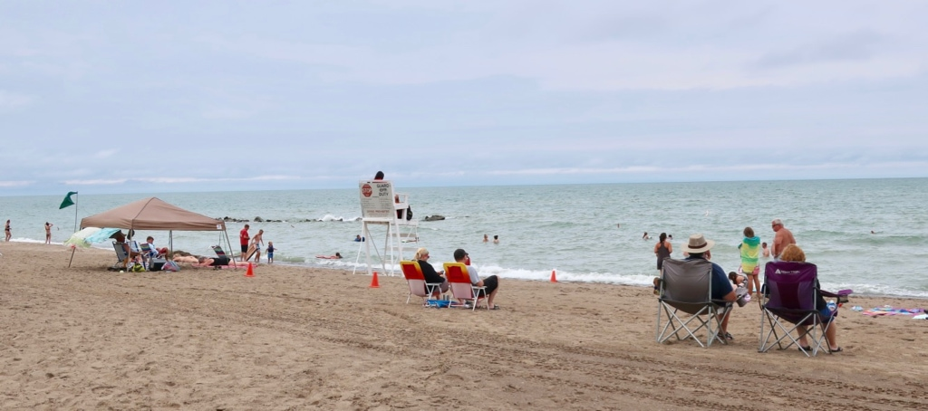 Summer beach at Presque Isle State Park Erie