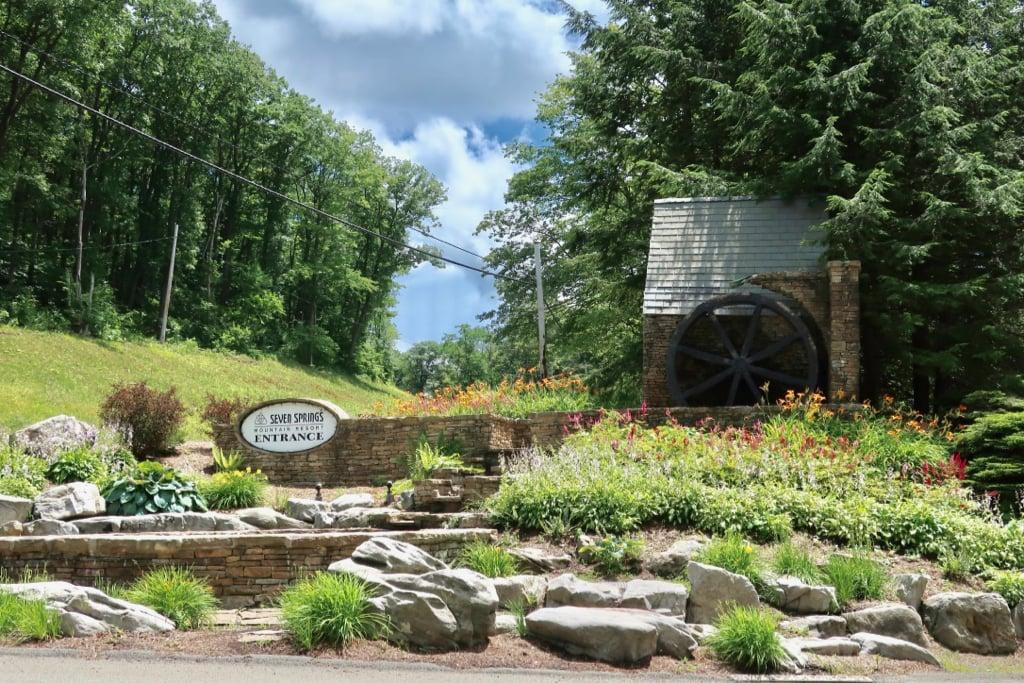 Entrance to Seven Springs Mountain Resort PA