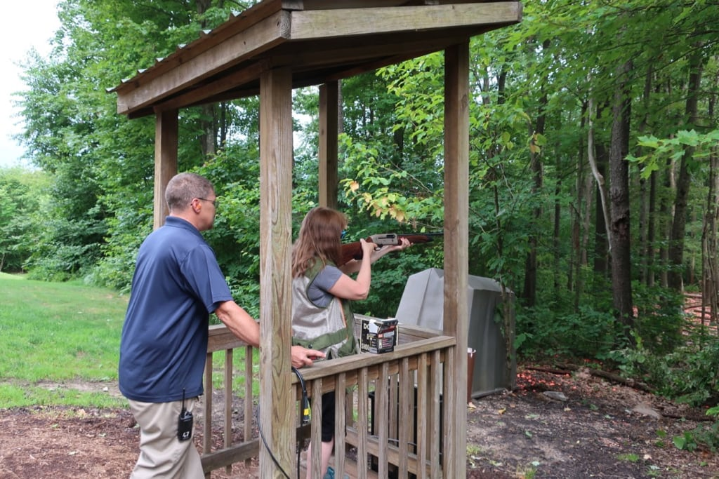 Student and Trapper at Sporting Clays Seven Springs Mountain Resort PA