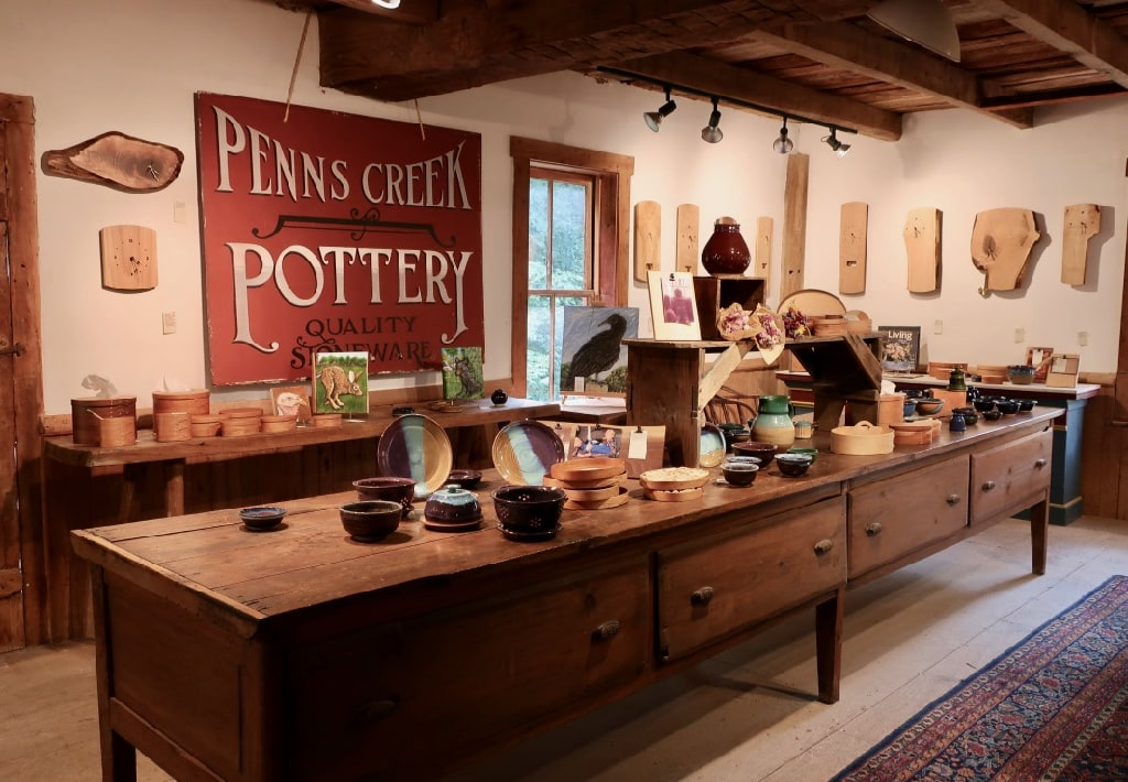 Second floor of Penns Creek Pottery PA