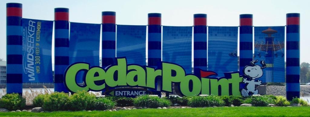 Cedar Point Entrance sign Sandusky OH